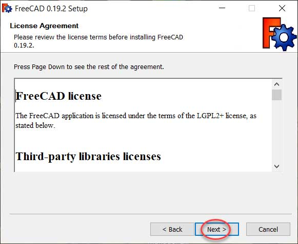 install and work with FreeCAD for beginners