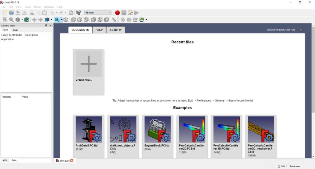 FreeCAD workspace explained for absolutel beginners.